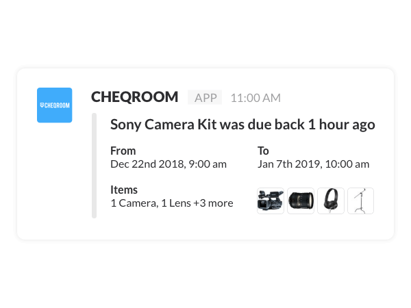 Equipment Checkout Software | CHEQROOM