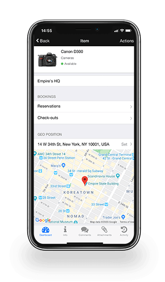 inventory tracking app geo location